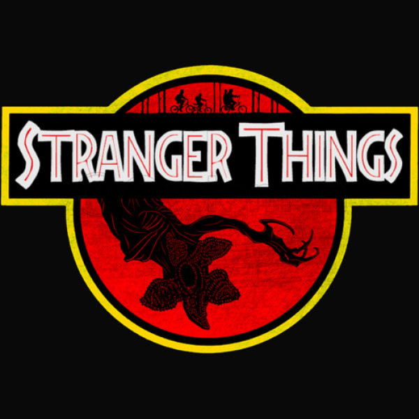 Stranger Things Parody Jurassic Park Mens Tank Top Customon