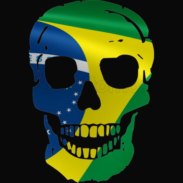 skull brazilian flag iphone 5 5s case customon com