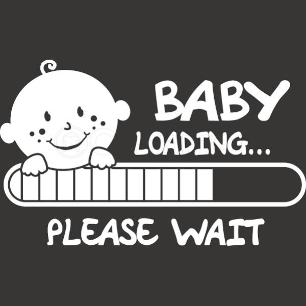 Baby loading please wait apron