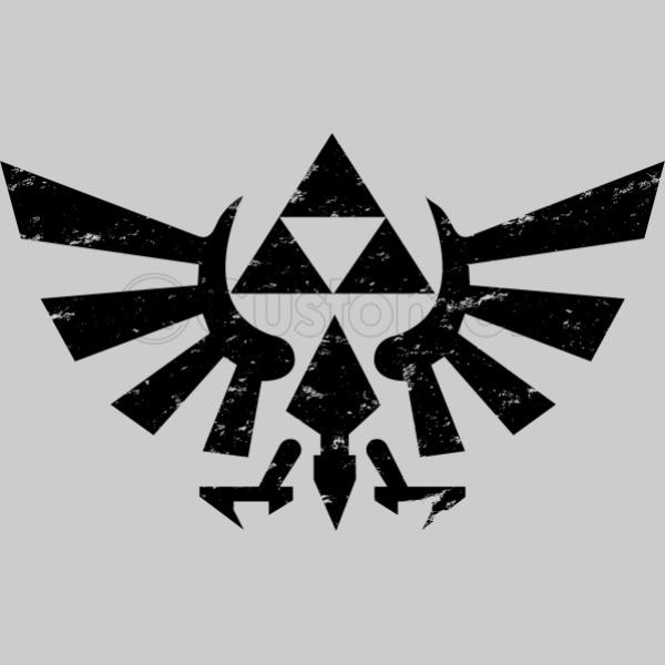 Zelda Triforce Symbol Grunge Kids Hoodie Customon