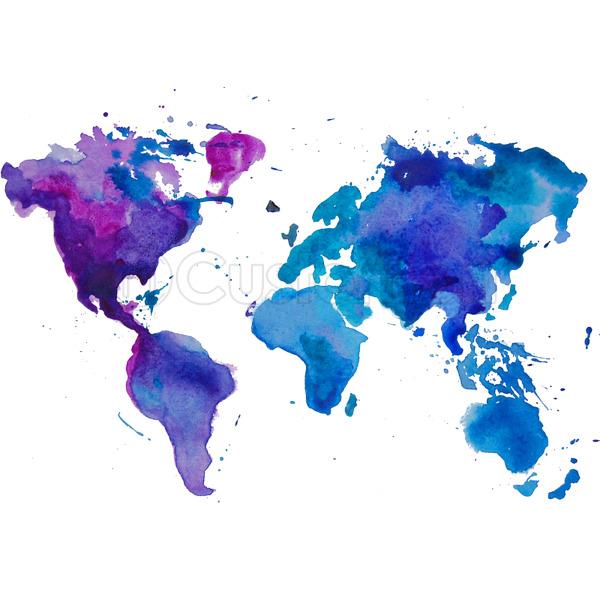 Watercolor Map of the World Baseball T-shirt | Customon.com