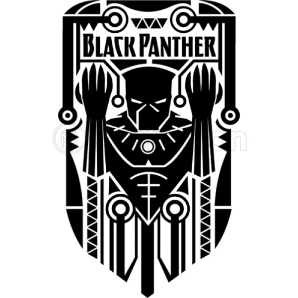 Black Panther Symbol Womens V Neck T Shirt Customon