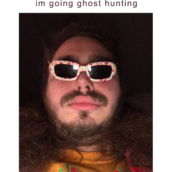 Well known Post Malone going ghost hunting Men's T-shirt | Customon.com SZ04