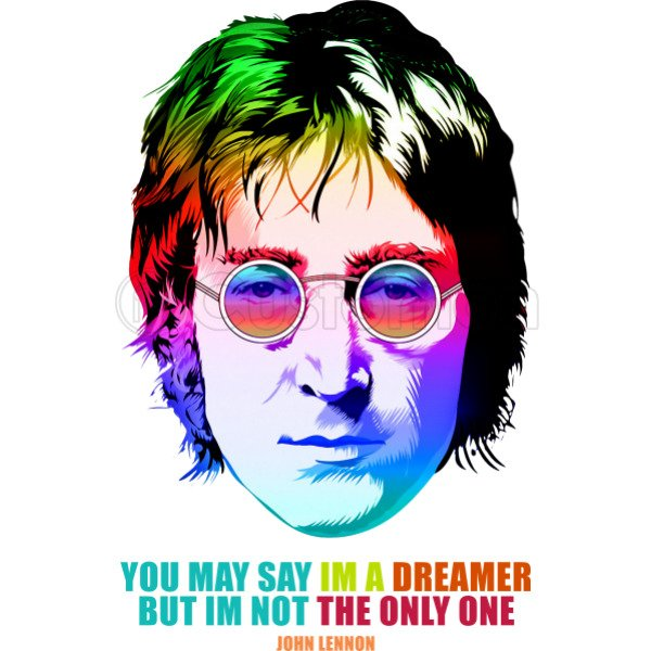 John Lennon Imagine Retro Im A Dreamer Coffee Mug