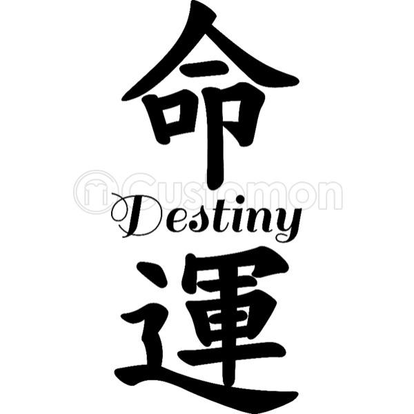 Destiny In Chinese Calligraphy Kids Hoodie Customon