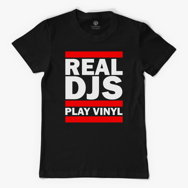 REAL DJS PLAY VINYL TSHIRT