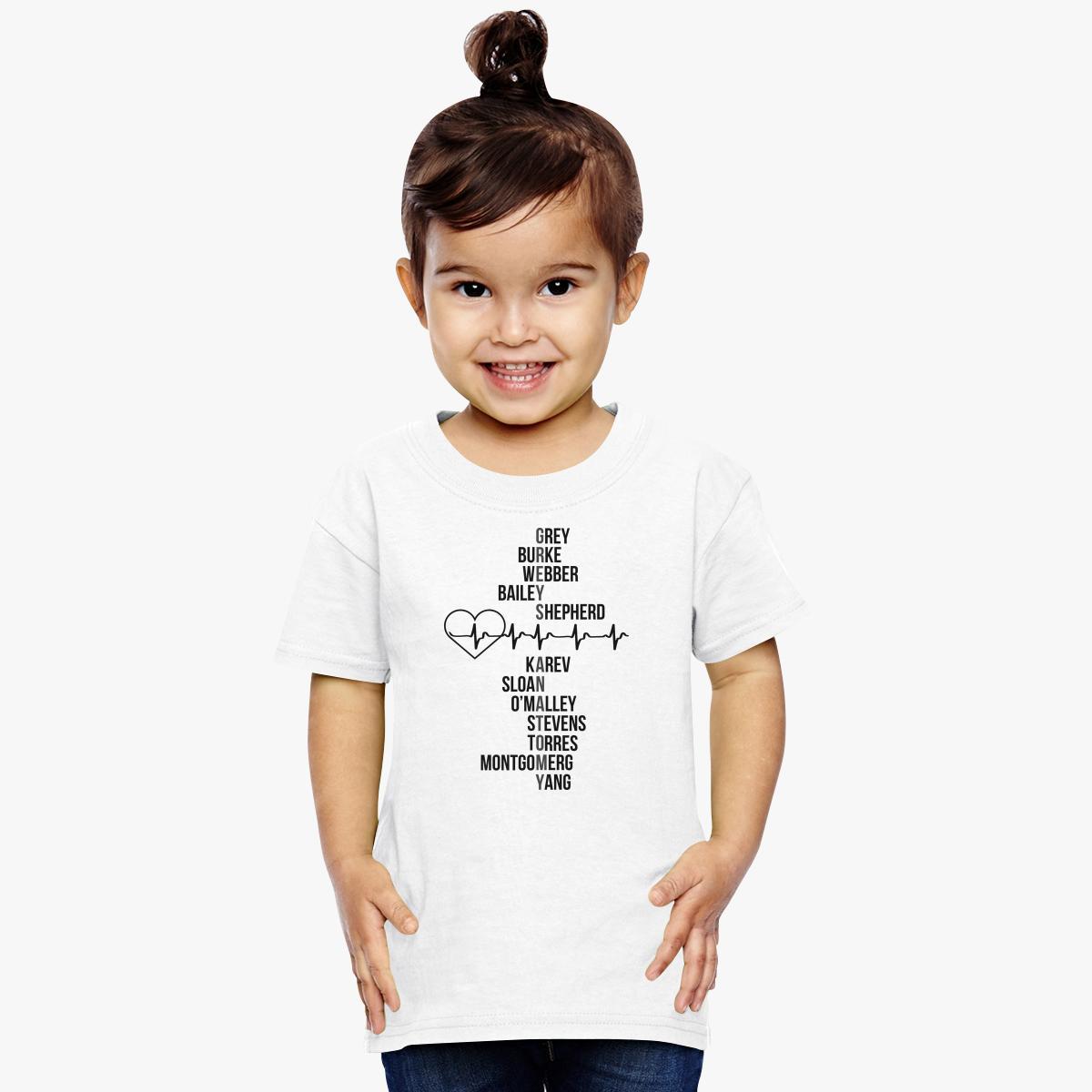 Dr Greys Anatomy Toddler T Shirt Customon