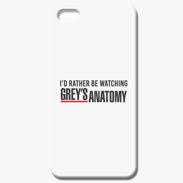 I\'d Rather Be Watching Grey\'s Anatomy iPhone 5C Case | Customon.com