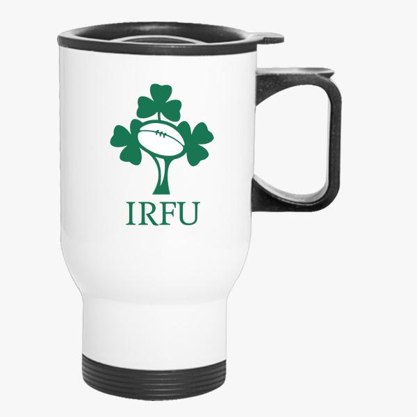 Irish Rugby Football Logo Travel Mug Customon