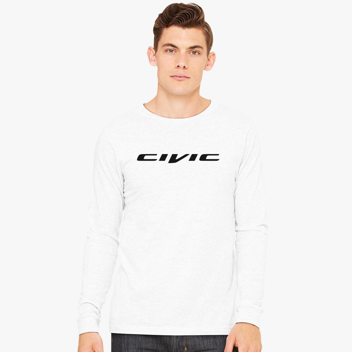 Honda Civic Logo Long Sleeve T Shirt Customon Com