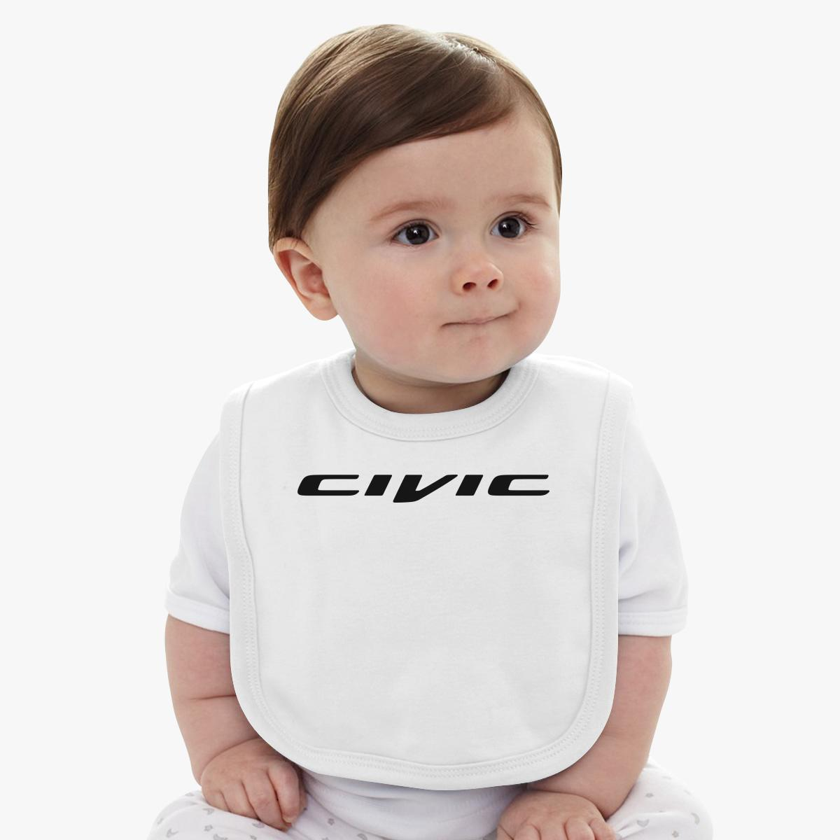 Honda Civic Logo Baby Bib Customon Com