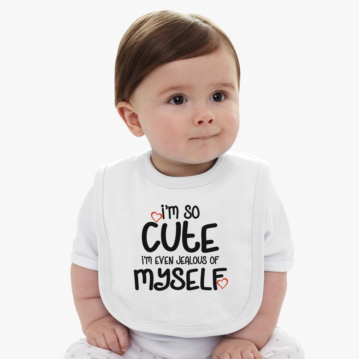i m so cute baby bib | customon