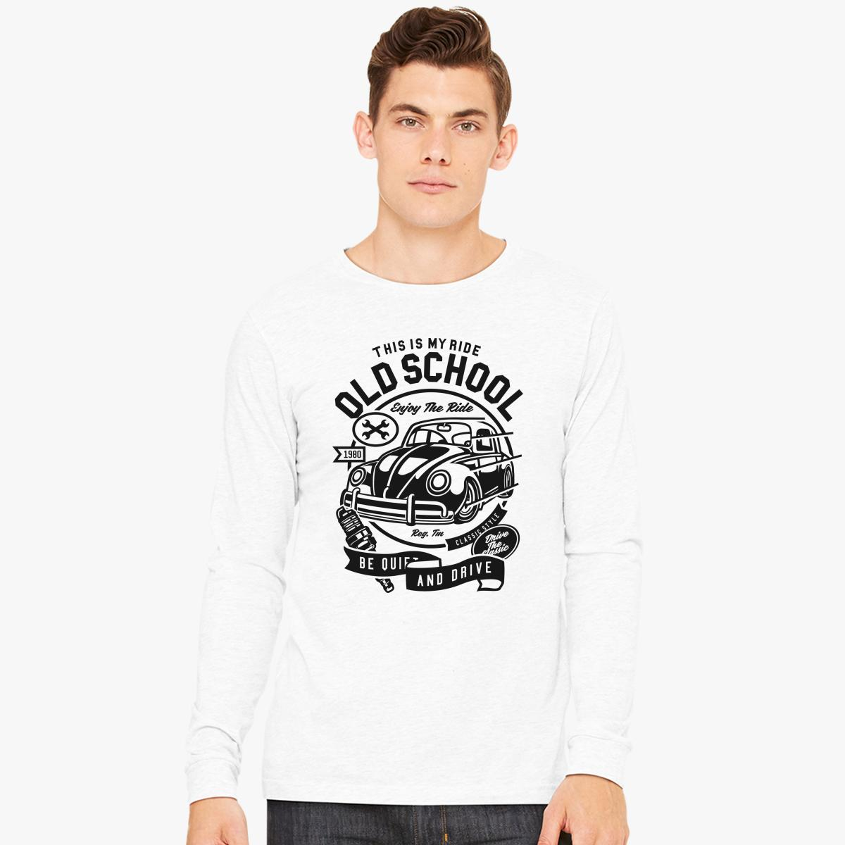 Old School Ride Long Sleeve T-shirt | Customon.com