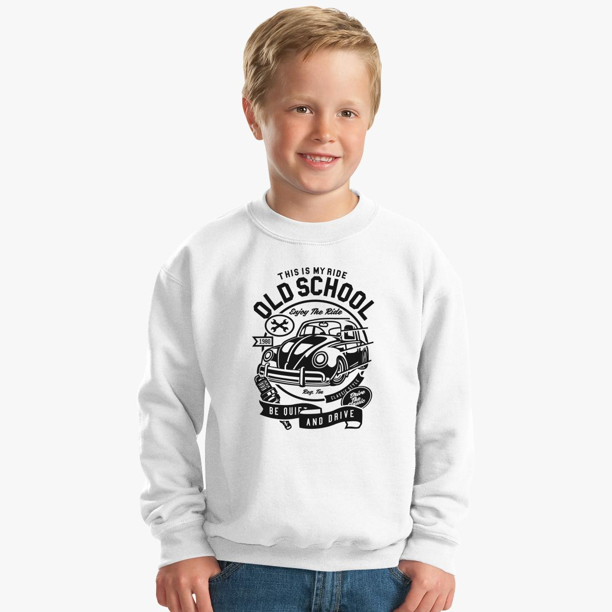 Old School Ride Kids Sweatshirt | Customon.com