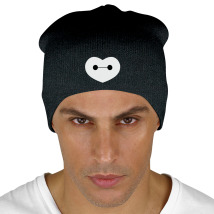Big Hero 6 - Baymax Shaped Heart Knit Beanie (Embroidered) - Customon.com 291648a2375d