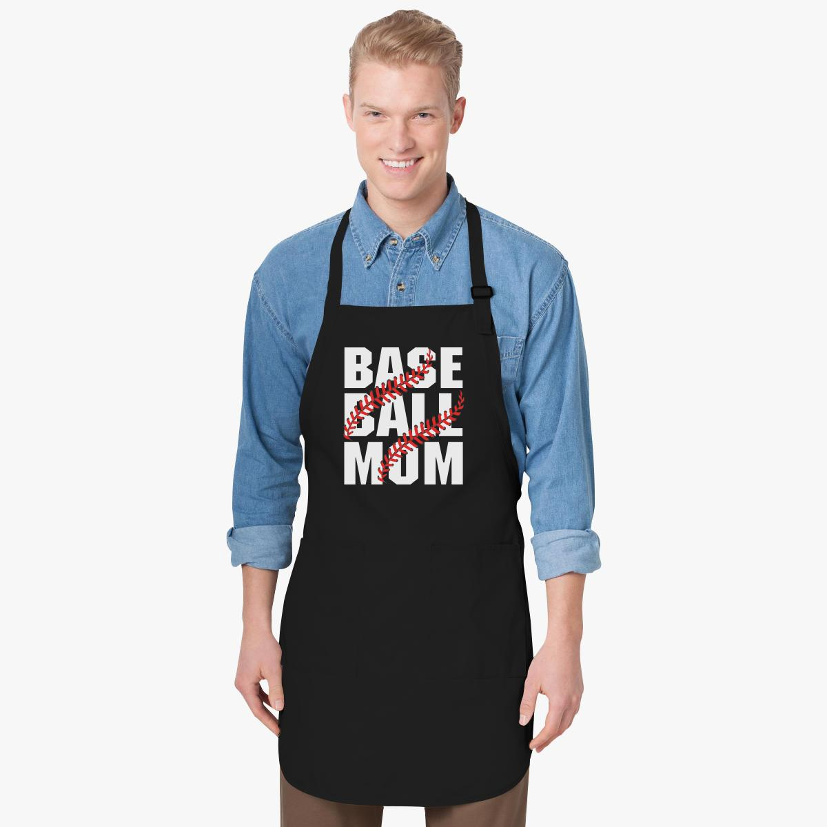 Baseball Mom Block Letter Life Apron  CustomonCom