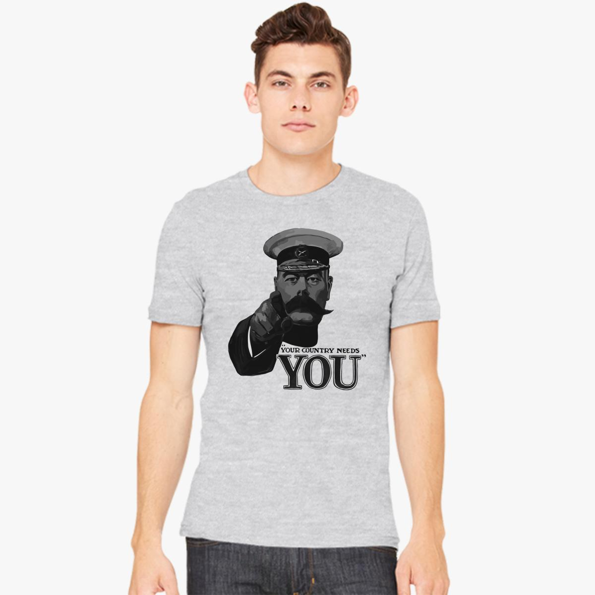 Lord Kitchener Your Country Needs You Men\'s T-shirt | Customon.com