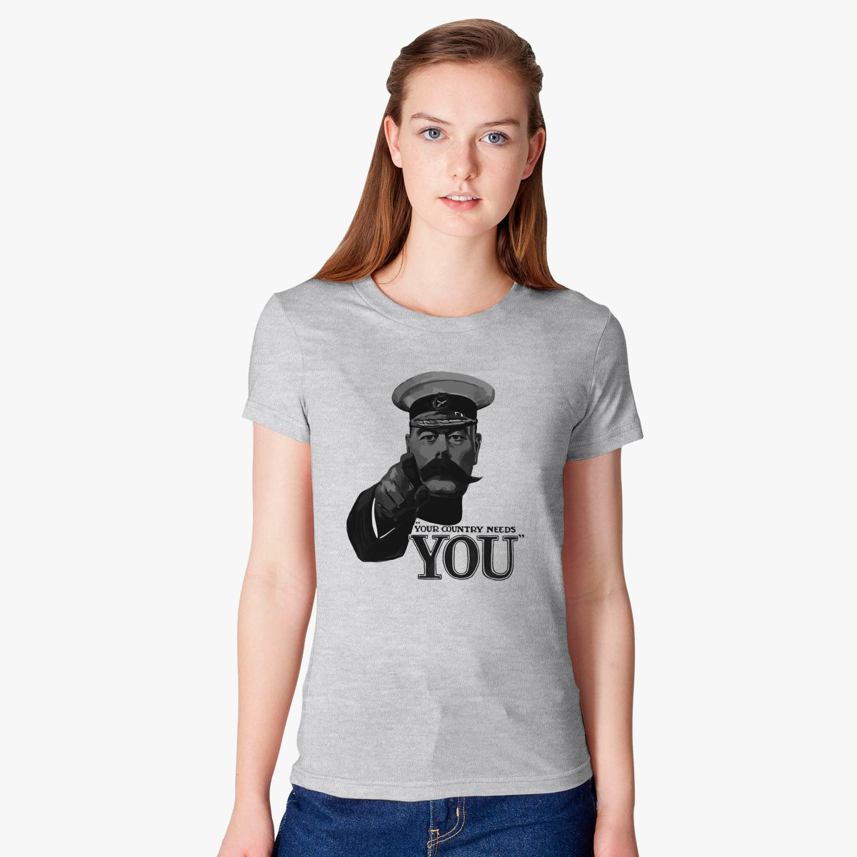 Lord Kitchener Your Country Needs You Women\'s T-shirt | Customon.com