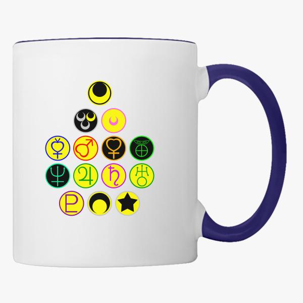 Sailor Scouts And The Moon Symbols Coffee Mug Customon