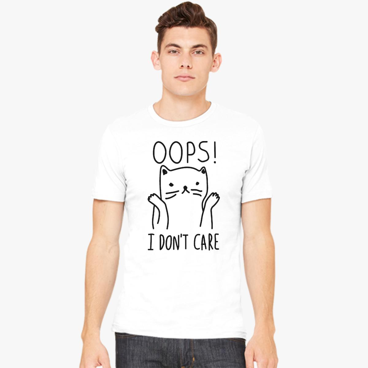 Oops I Don't Care Cat Men's T-shirt
