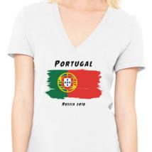 Portugal world cup 2018 Women s V-Neck T-shirt - Customon.com 52c15bc31