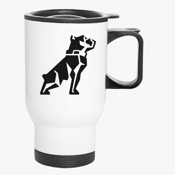 Mack Trucks Dog Symbol Travel Mug Customon