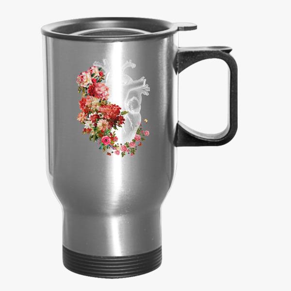 Flower Heart Travel Mug | Customon.com