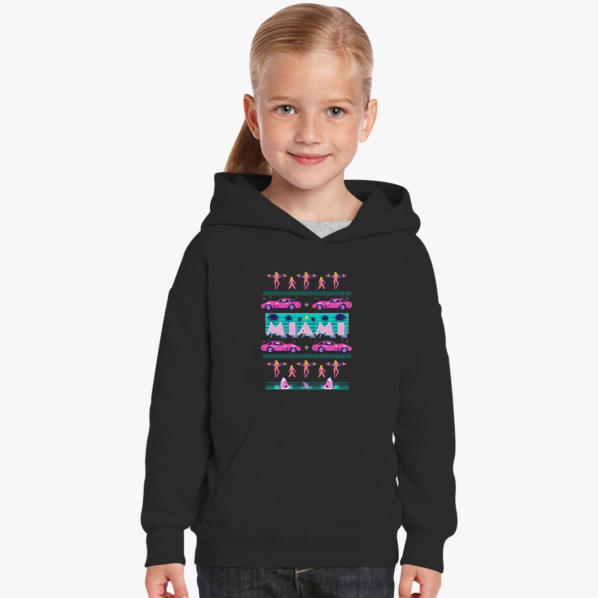 Miami Vice Ugly Christmas sweater Kids Hoodie | Customon.com