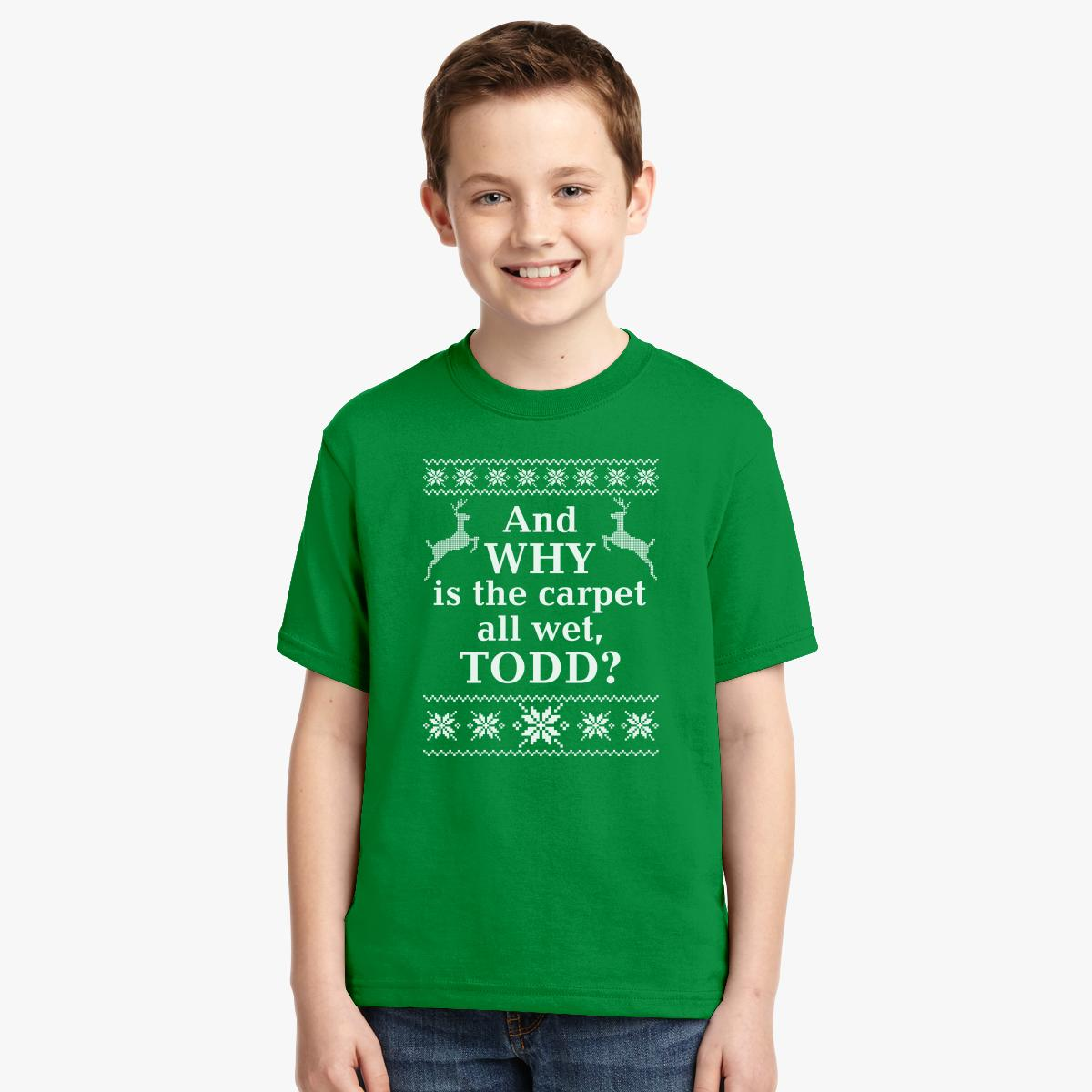 Ugly Christmas sweater And Why Is The Carpet All wet Todd Youth T ...