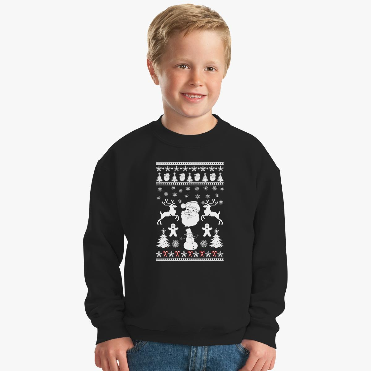 Ugly Christmas Sweater Kids Sweatshirt | Customon.com