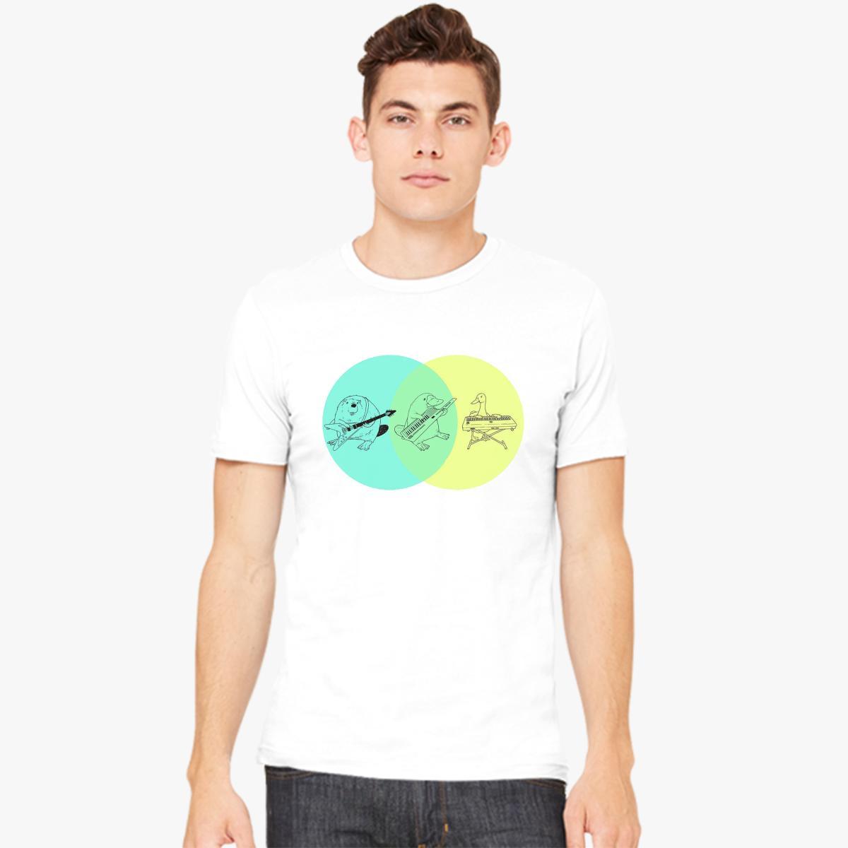 Keytar platypus venn diagram mens t shirt customon keytar platypus venn diagram mens t shirt pooptronica