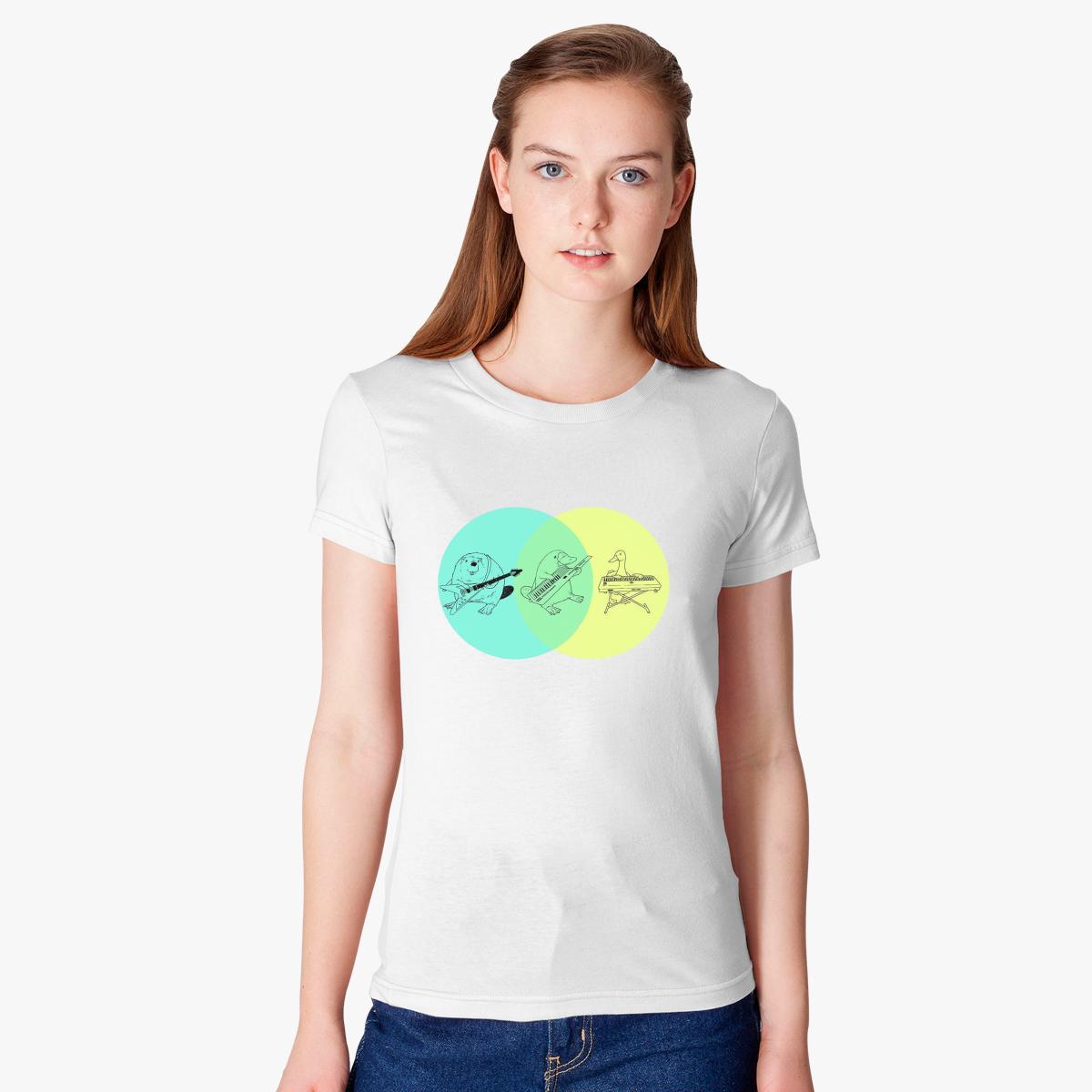 Keytar platypus venn diagram womens t shirt customon keytar platypus venn diagram womens t shirt pooptronica