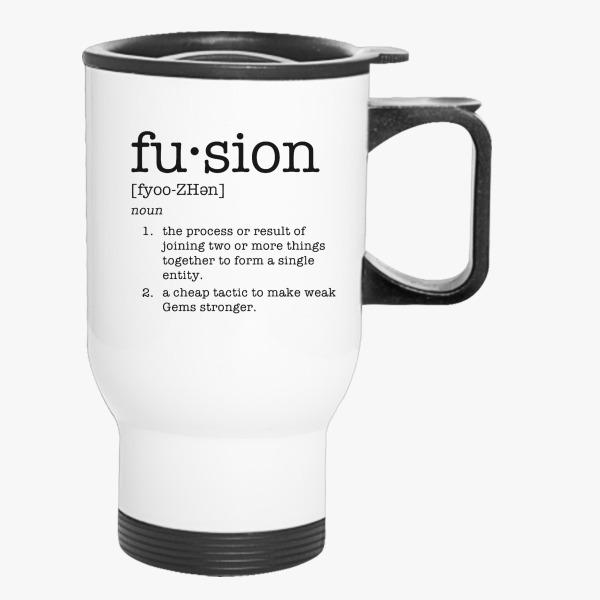 Lovely Fusion Definition Travel Mug