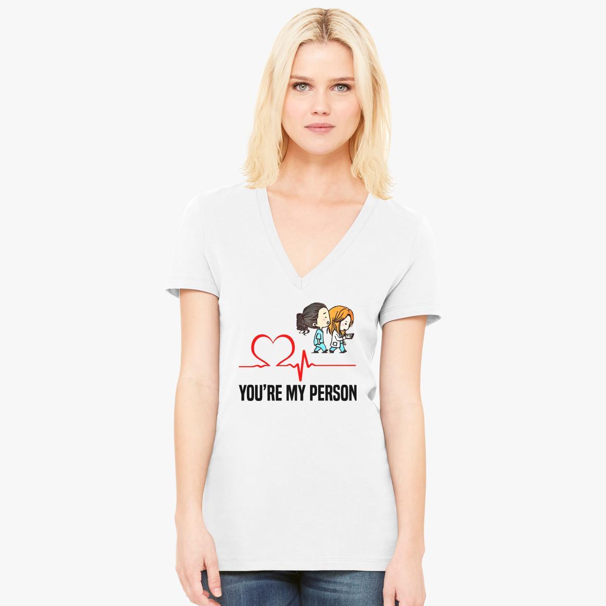 Grey\'s Anatomy - You are my person Women\'s V-Neck T-shirt | Customon.com