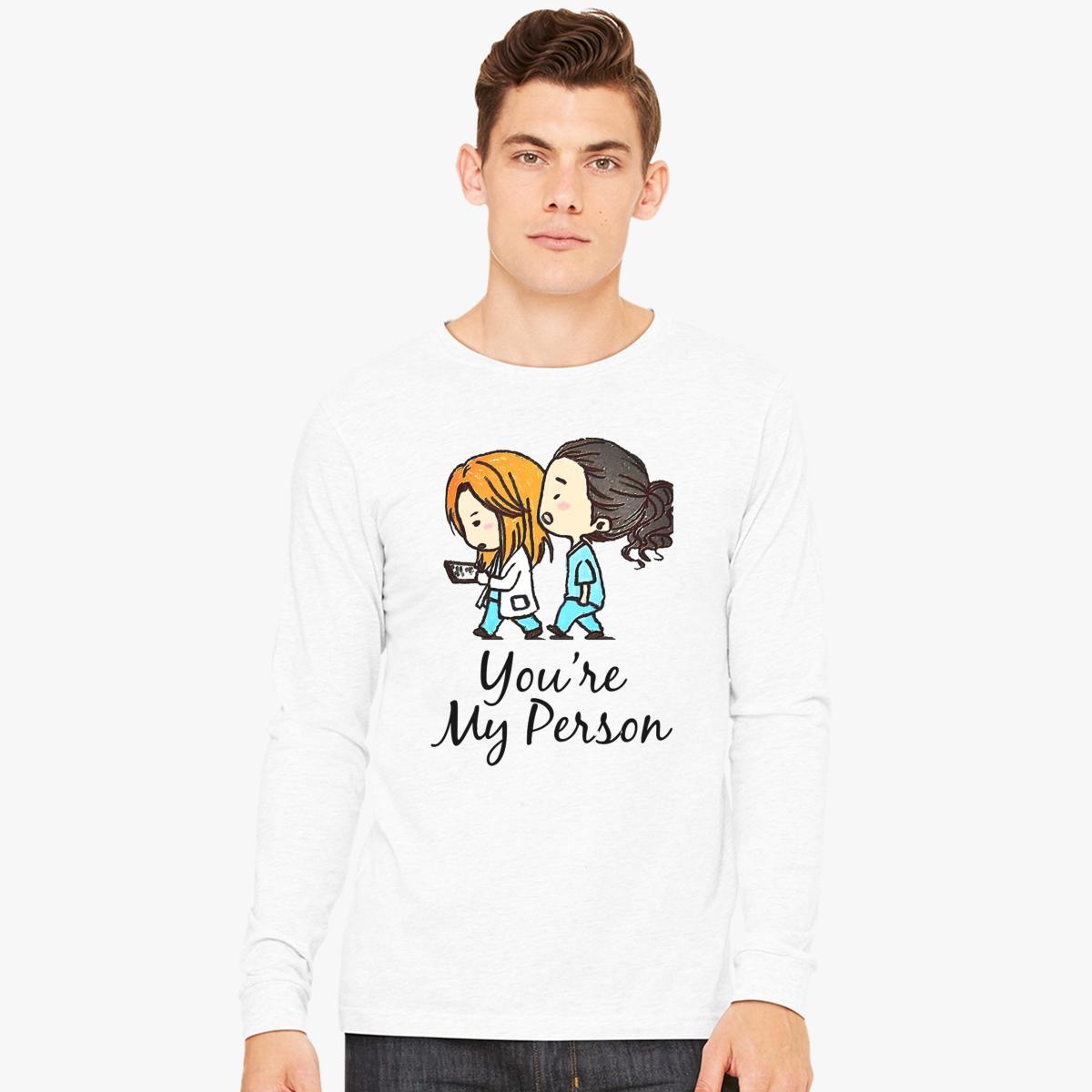 Grey\'s Anatomy - You Are My Person Long Sleeve T-shirt | Customon.com