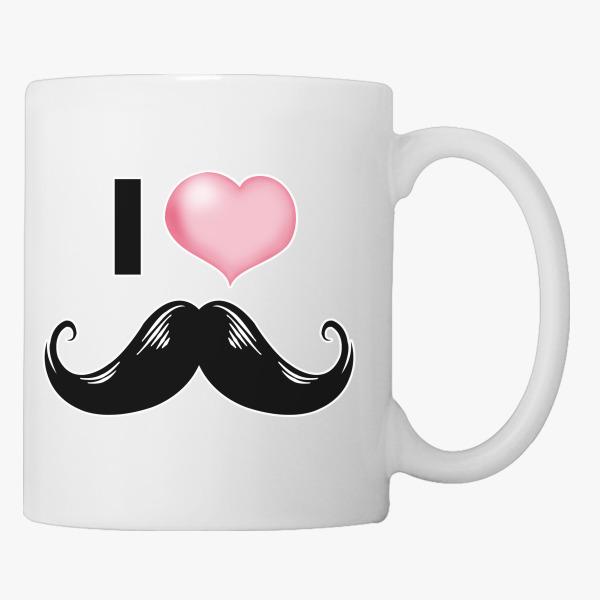 i heart moustache coffee mug customon com