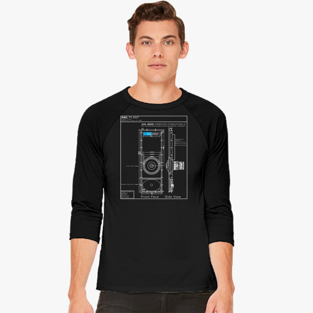2001 a space odyssey hal 9000 blueprint baseball t shirt 2001 a space odyssey hal 9000 blueprint baseball t shirt malvernweather Image collections