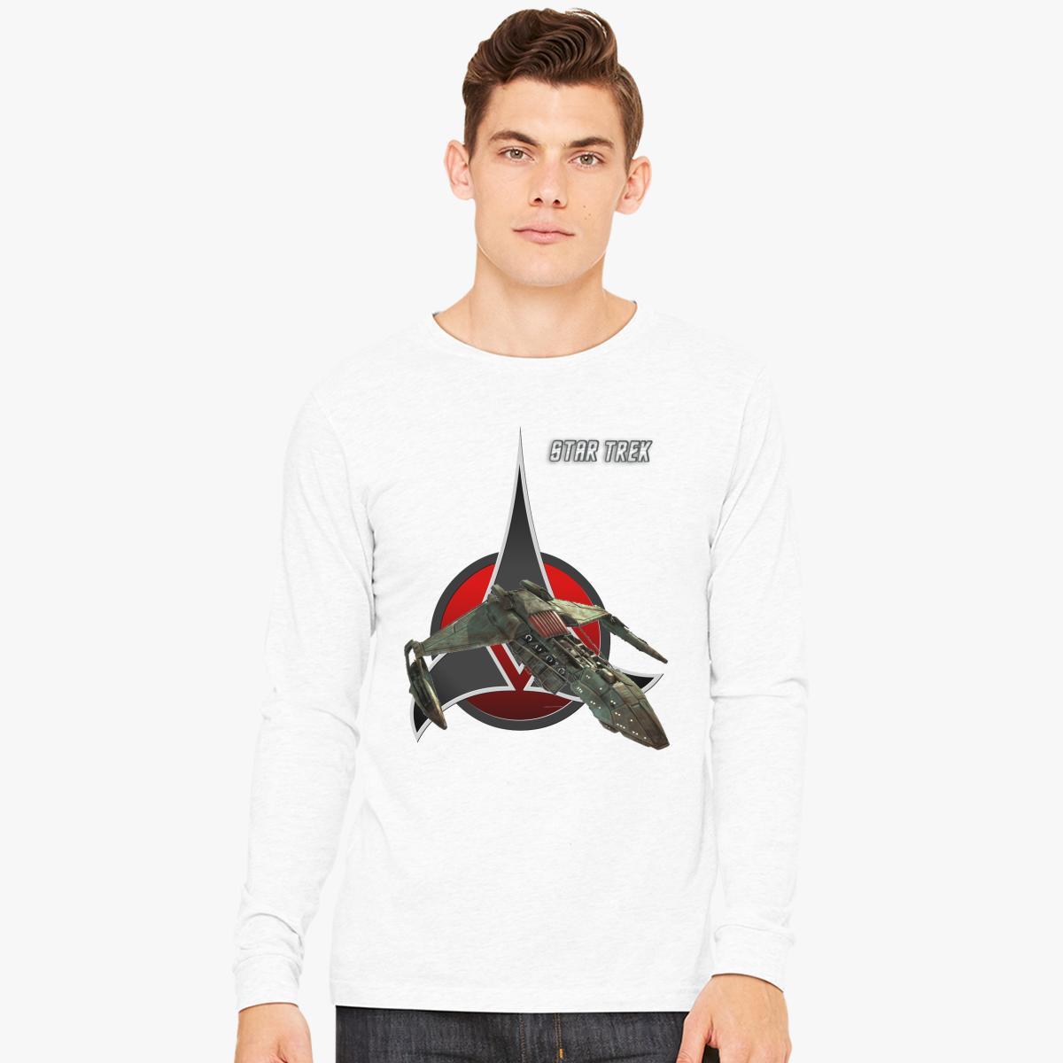 Klingon Pesce Manica Lunga T-shirt sWpPDR3ky