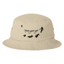 Never Grow Up Peter Pan Bucket Hat (Embroidered) - Customon.com bf945f1b3285