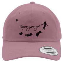 Never Grow Up Peter Pan Cotton Twill Hat (Embroidered) - Customon.com 86d9b876b6ea