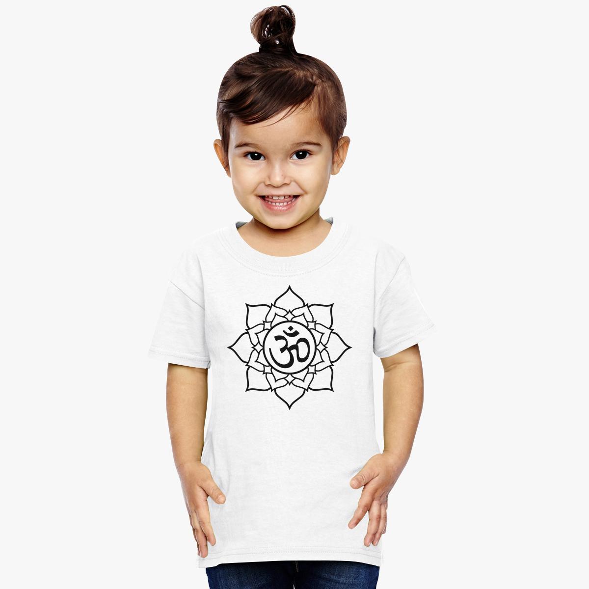 Om lotus flower toddler t shirt customon om lotus flower toddler t shirt izmirmasajfo
