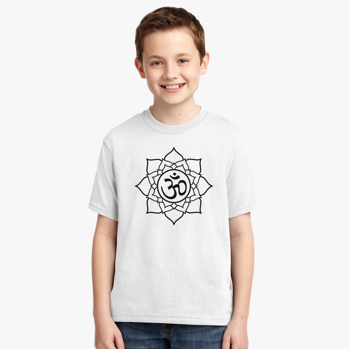Om lotus flower youth t shirt customon om lotus flower youth t shirt izmirmasajfo