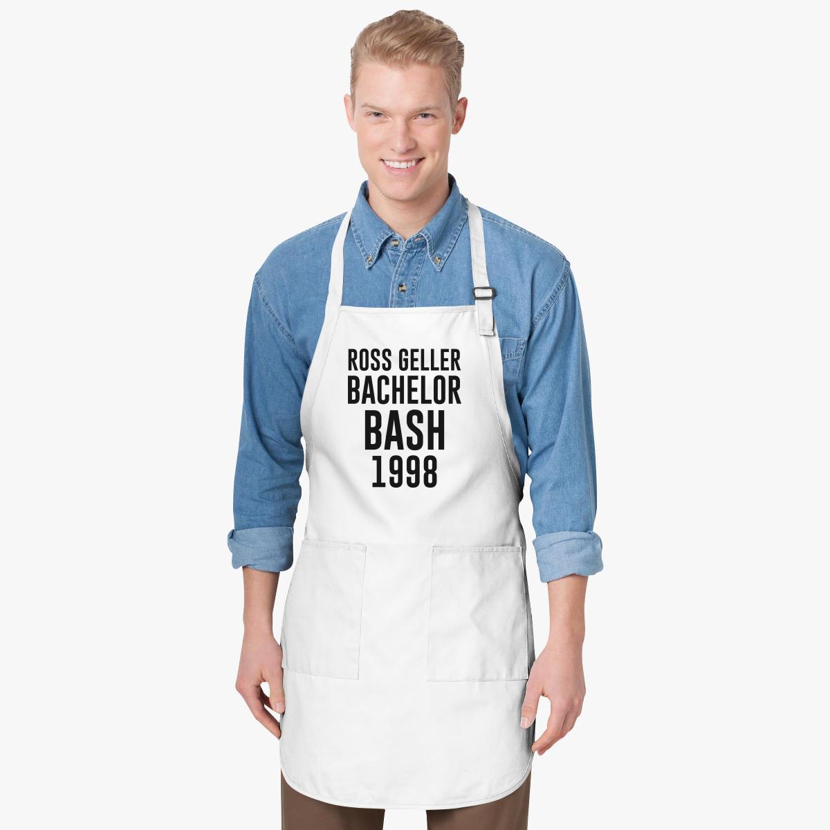 Ross Geller Bachelor Bash shirt Friends Joey Tribbiani Apron ...