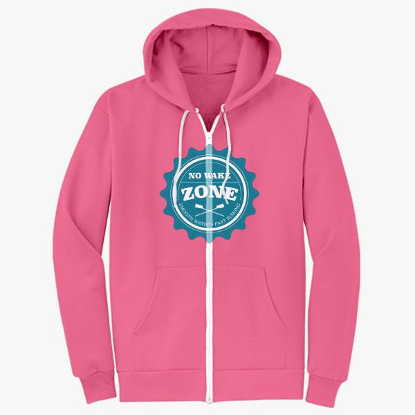 I Love Rowing Zip Hoodie
