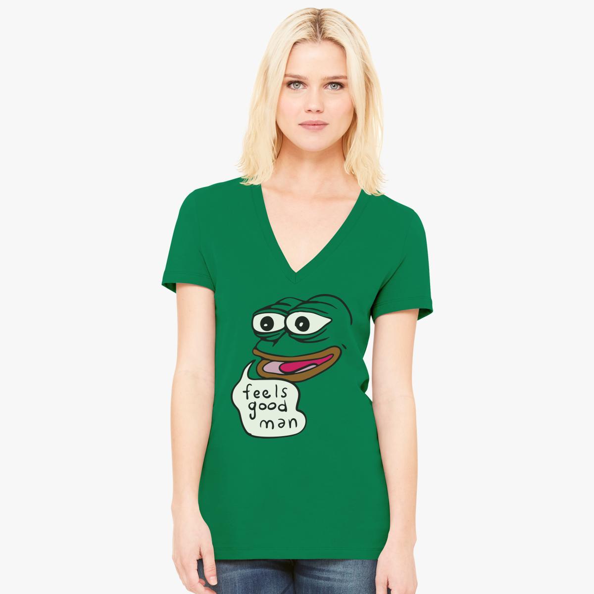Feels Good Man Womenu0027s V Neck T Shirt